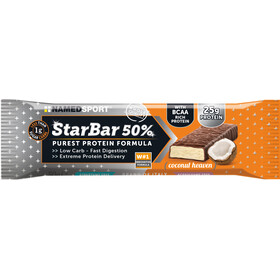 NAMEDSPORT StarBar 50% Crunchy Protein Bar Box 24 x 50g, Coconut Heaven